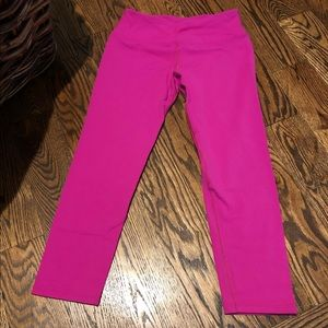 Hardtail bright pink crop legging